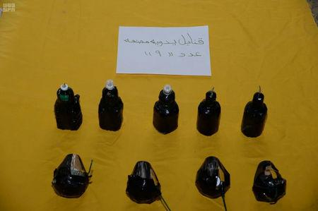 Undated image of explosives seized by Saudi security forces, Saudi Arabia. Saudi Press Agency/ Handout via REUTERS