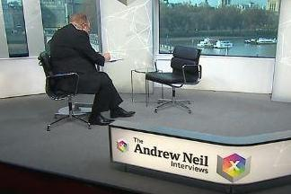 Andrew Neil and an empty chair on Thursday's show (BBC)