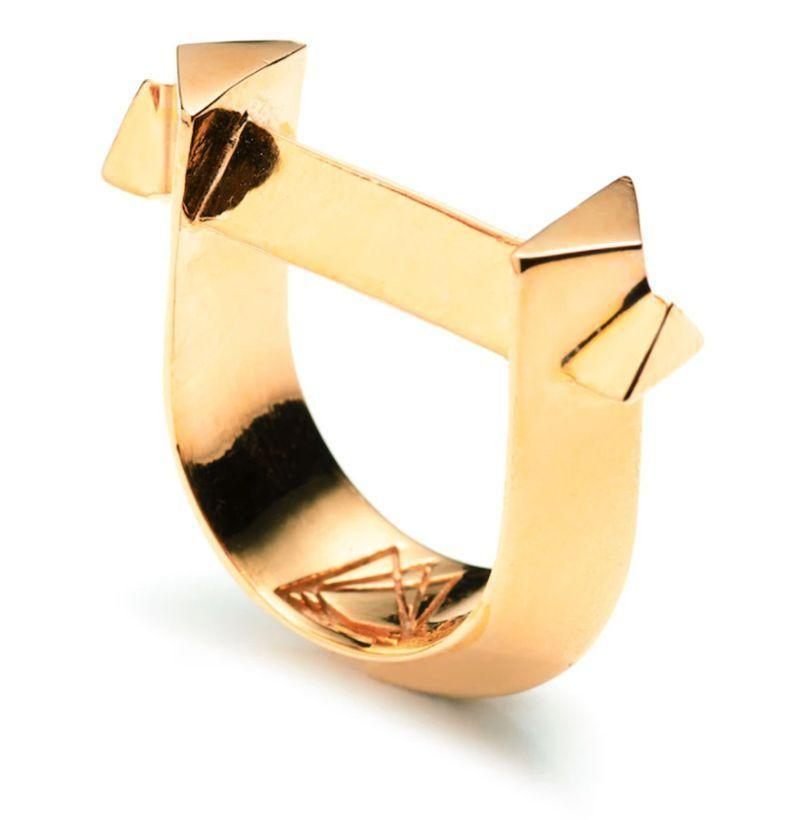 """<p><strong>Third Crown</strong></p><p>thirdcrown.com</p><p><strong>$200.00</strong></p><p><a href=""""https://www.thirdcrown.com/collections/rings/products/arc-ring-18k-gold-plated-brass"""" rel=""""nofollow noopener"""" target=""""_blank"""" data-ylk=""""slk:Buy"""" class=""""link rapid-noclick-resp"""">Buy</a></p><p>Third Crown's sharp, angular Arc Ring is a wearable piece of art available in gold or silver-plated brass.</p>"""