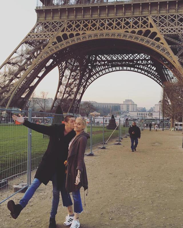 "<p>They'll always have Paris! Paris Jackson and her now ex-boyfriend Michael Snoddy posed beneath the Eiffel Tower in January. She dumped him by February. (Photo: <a href=""https://www.instagram.com/p/BPXxhXRDsvY/"" rel=""nofollow noopener"" target=""_blank"" data-ylk=""slk:Paris Jackson via Instagram"" class=""link rapid-noclick-resp"">Paris Jackson via Instagram</a>)<br><br></p>"