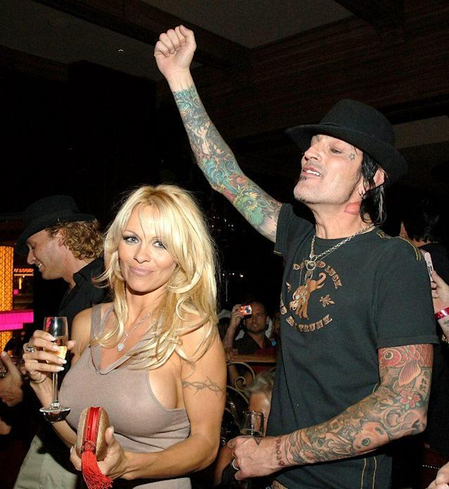 Together again… Pamela Anderson and Tommy Lee spark romance rumors in June 2007. (Photo: Denise Truscello/WireImage)