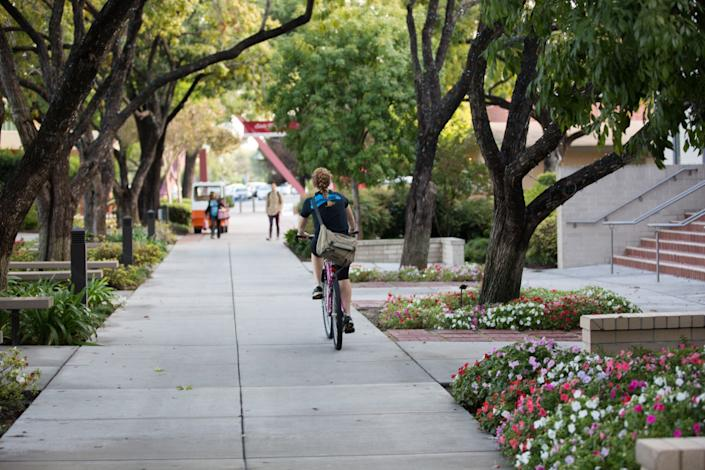 "Biola University in La Mirada plans to hold classes on campus in the fall. <span class=""copyright"">(Austin Bland)</span>"