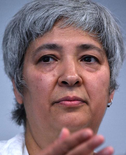 "Seyran Ates -- who has campaigned against forced marriages, domestic violence and so-called ""honour killings"" among Muslim migrants -- said the project was eight years in the making (AFP Photo/John MACDOUGALL)"