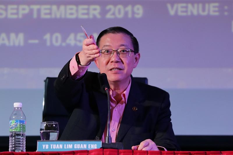 Finance Minister Lim Guan Eng answers questions during the Special Voluntary Disclosure Programme in Petaling Jaya September 16, 2019. — Picture by Ahmad Zamzahuri