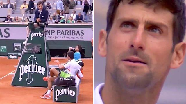 French Open 2019 Novak Djokovic Rages At Umpire After Loss