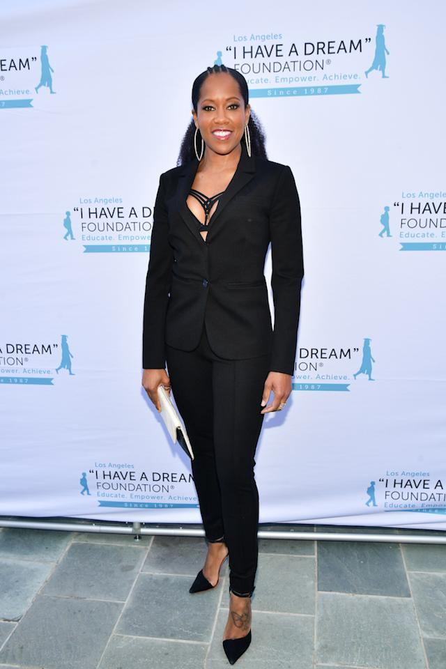 <p>The actress proved you don't need a dress to nail red carpet style in a slick black suit. <em>[Photo: Getty]</em> </p>