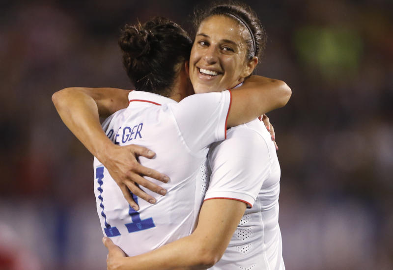Lloyd scores 2 as US women beat China 3-0