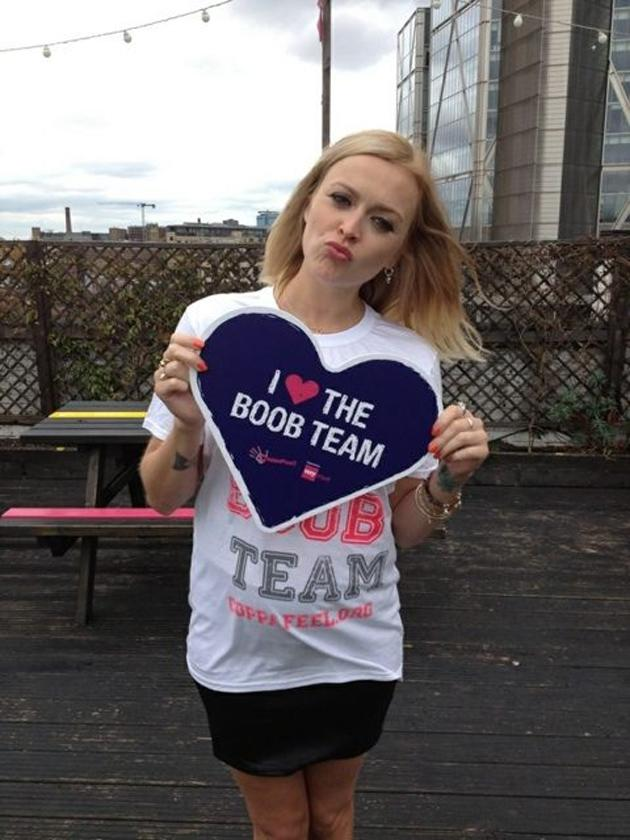 Celebrity photos: Fearne Cotton was shooting a campaign to promote breast cancer awareness. She tweeted this photo during the shoot, where her cute baby bump is clearly visible. Aww!