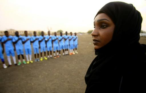 <p>Sudan's 'sister coach' takes love of football to field</p>