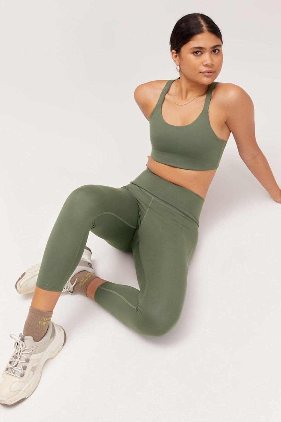 <p>This <span>Girlfriend Collective Compressive High-Rise Legging</span> ($68) and <span>Paloma Bra</span> ($38) makes for the perfect matching set.</p>