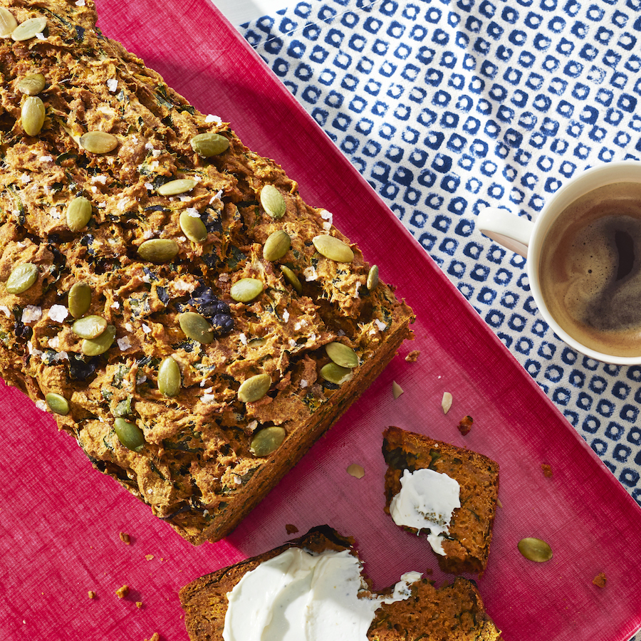 """<p>This treat has a little bit of everything: texture, moisture, bright and earthy flavors—and most importantly, it pairs perfectly with a hot cup of coffee. </p><p><strong><em><a href=""""https://www.prevention.com/food-nutrition/recipes/a34715503/pumpkin-bread-with-lemony-cream-cheese/"""" rel=""""nofollow noopener"""" target=""""_blank"""" data-ylk=""""slk:Get the recipe from Prevention »"""" class=""""link rapid-noclick-resp"""">Get the recipe from Prevention »</a></em></strong></p>"""
