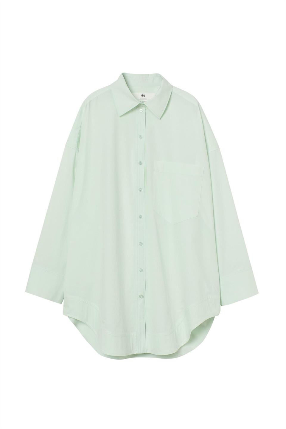 <p><span>H&amp;M Innovation Science Story Cotton Shirt Dress</span> ($70)</p>
