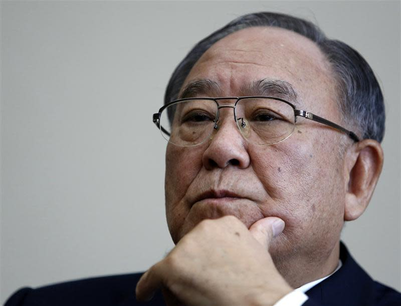 Canon Inc Chairman and CEO Mitarai participates in an interview in Tokyo