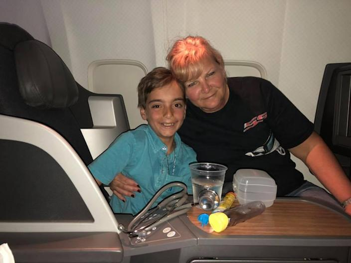 Luca and the nurse who saved his life. (Photo: Facebook/Francine Valerie Ingrassia)