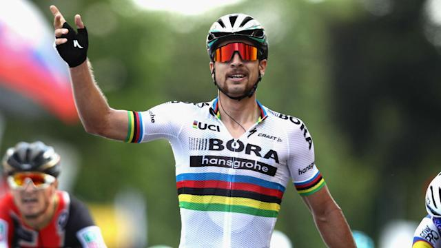 Silvan Dillier pushed Peter Sagan all the way but the world champion was not to be denied the Paris-Roubaix title.