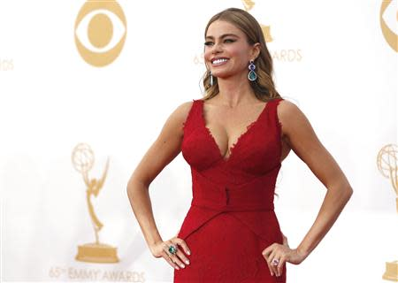 "Actress Sofia Vergara from ABC's series ""Modern Family"" arrives at the 65th Primetime Emmy Awards in Los Angeles"
