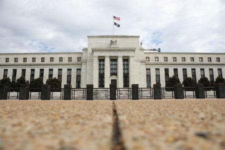 The Federal Reserve building is pictured in Washington, DC
