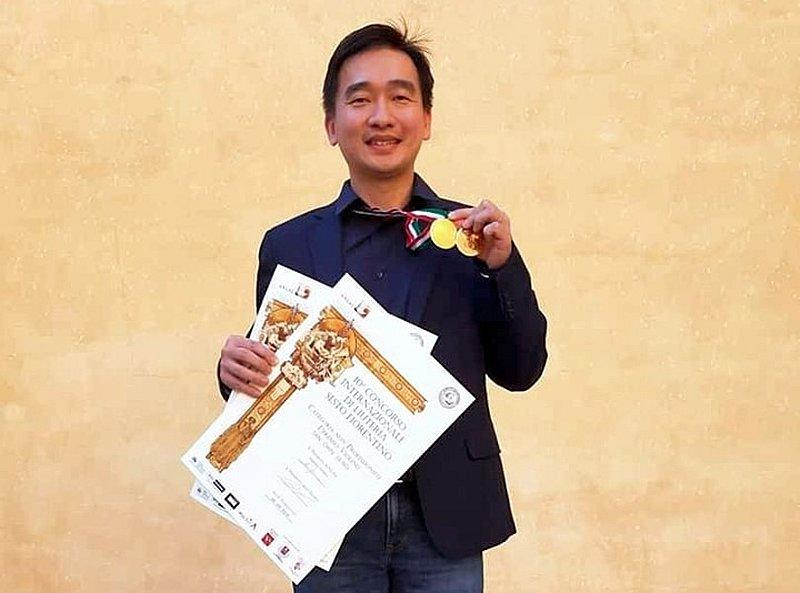 Tan Chin Seng bagged two top prizes for his handcrafted violin and viola. — Picture courtesy of Tan Chin Seng