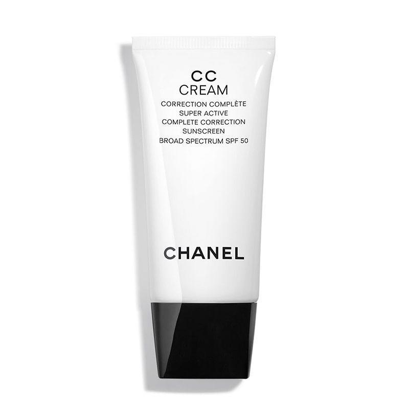 """<p><strong>Chanel</strong></p><p>nordstrom.com</p><p><strong>$55.00</strong></p><p><a href=""""https://go.redirectingat.com?id=74968X1596630&url=https%3A%2F%2Fshop.nordstrom.com%2Fs%2Fchanel-cc-cream-super-active-correction-complete-sunscreen-spf-50%2F5053136&sref=https%3A%2F%2Fwww.goodhousekeeping.com%2Fbeauty-products%2Fg30611666%2Fbest-cc-cream%2F"""" rel=""""nofollow noopener"""" target=""""_blank"""" data-ylk=""""slk:Shop Now"""" class=""""link rapid-noclick-resp"""">Shop Now</a></p><p>If you want to add a little luxury to your routine, GH Beauty Director, <a href=""""https://www.goodhousekeeping.com/author/12308/april-franzino/"""" rel=""""nofollow noopener"""" target=""""_blank"""" data-ylk=""""slk:April Franzino"""" class=""""link rapid-noclick-resp"""">April Franzino</a> says this CC cream is worth the splurge. """"The cream provides just the right amount of coverage to even skin tone with a <strong>natural, slightly glowy finish</strong>, <strong>yet has a high level of SPF</strong> for a makeup product for added skin protection,"""" she says. We also like that the Chanel cream has a rich texture and sophisticated fresh scent. </p>"""