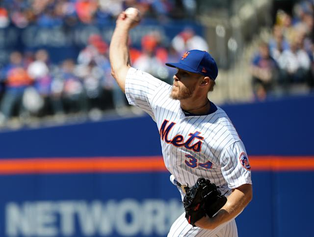 "<h1 class=""title"">Washington Nationals v New York Mets</h1> <div class=""caption""> NEW YORK, NEW YORK - APRIL 04: Noah Syndergaard #34 of the New York Mets pitches against the Washington Nationals on April 04, 2019 during the Mets home opener at Citi Field in the Flushing neighborhood of the Queens borough of New York City. (Photo by Michael Heiman/Getty Images) </div> <cite class=""credit"">Michael Heiman</cite>"