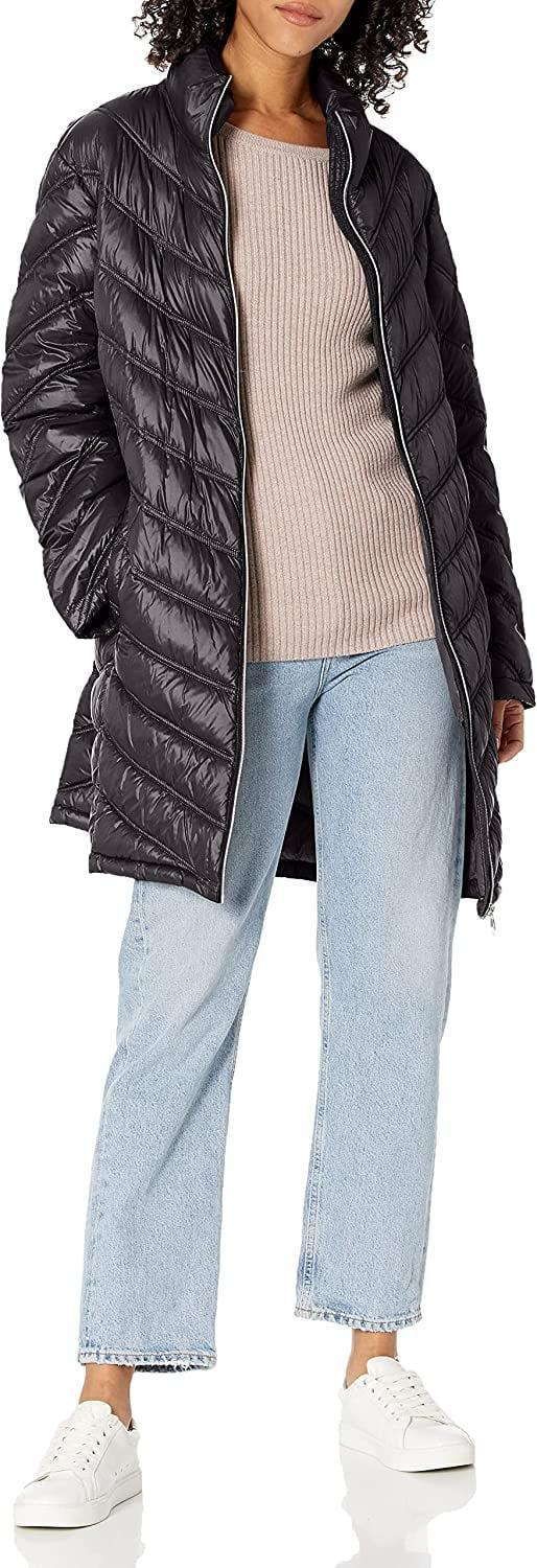 <p>This <span>Calvin Klein Chevron Quilted Packable Down Jacket</span> ($91) has such an easygoing air to it, you'll want to wear it everywhere. It makes the perfect finish to any outfit.</p>