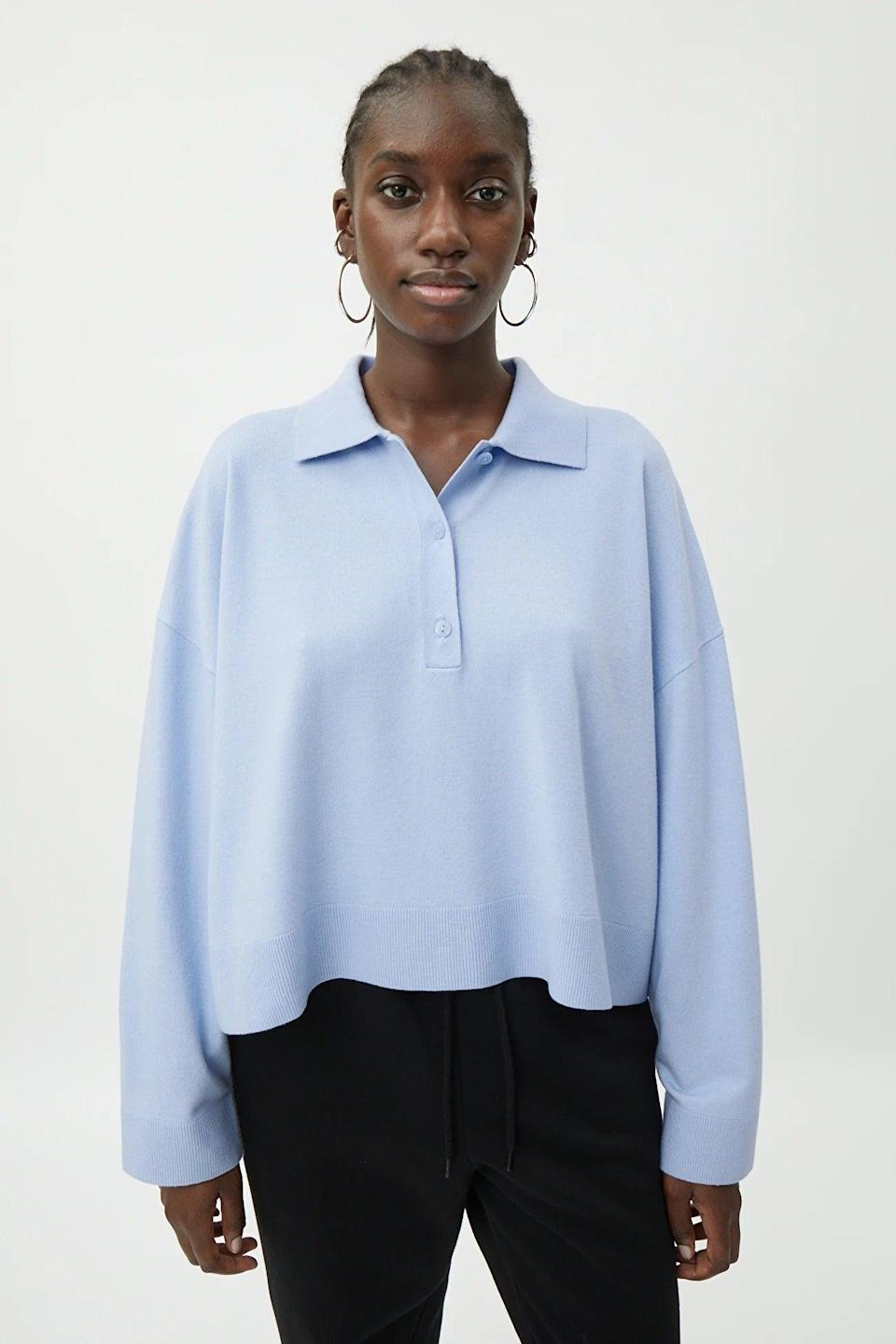 """<br><br><strong>Weekday</strong> Monique Sweater, $, available at <a href=""""https://www.weekday.com/en_gbp/women/hoodies-sweatshirts/product.monique-sweater-blue.0906082003.html"""" rel=""""nofollow noopener"""" target=""""_blank"""" data-ylk=""""slk:Weekday"""" class=""""link rapid-noclick-resp"""">Weekday</a>"""