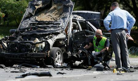 Car bomb kills senior Ukrainian intelligence officer in Kiev