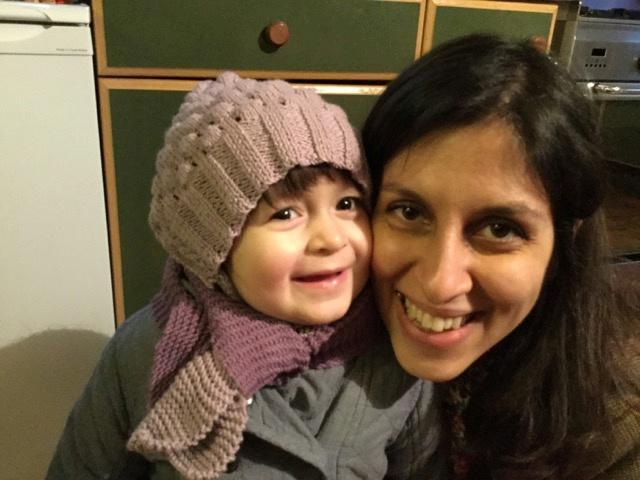 FILE PHOTO: Nazanin Zaghari-Ratcliffe and her daughter Gabriella pose for a photo in London