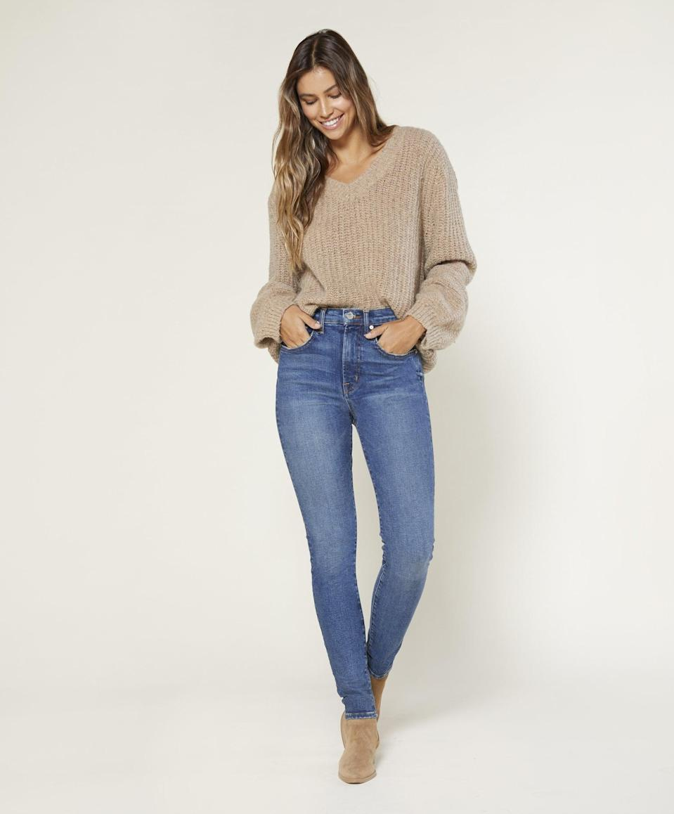 <p><span>Outerknown Iconoclast High Rise Skinny</span> ($248)<br></p>