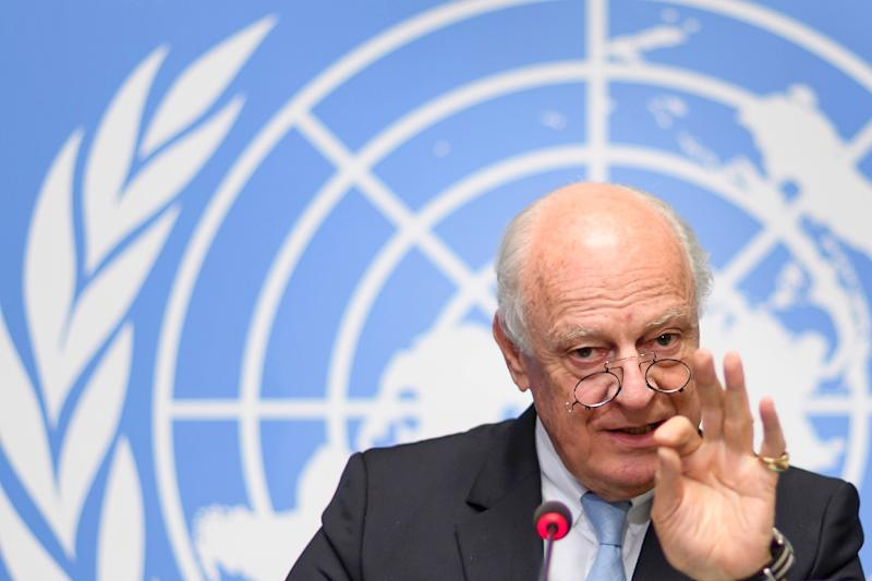 UN Special Envoy for Syria Staffan de Mistura (AFP Photo/Fabrice COFFRINI)