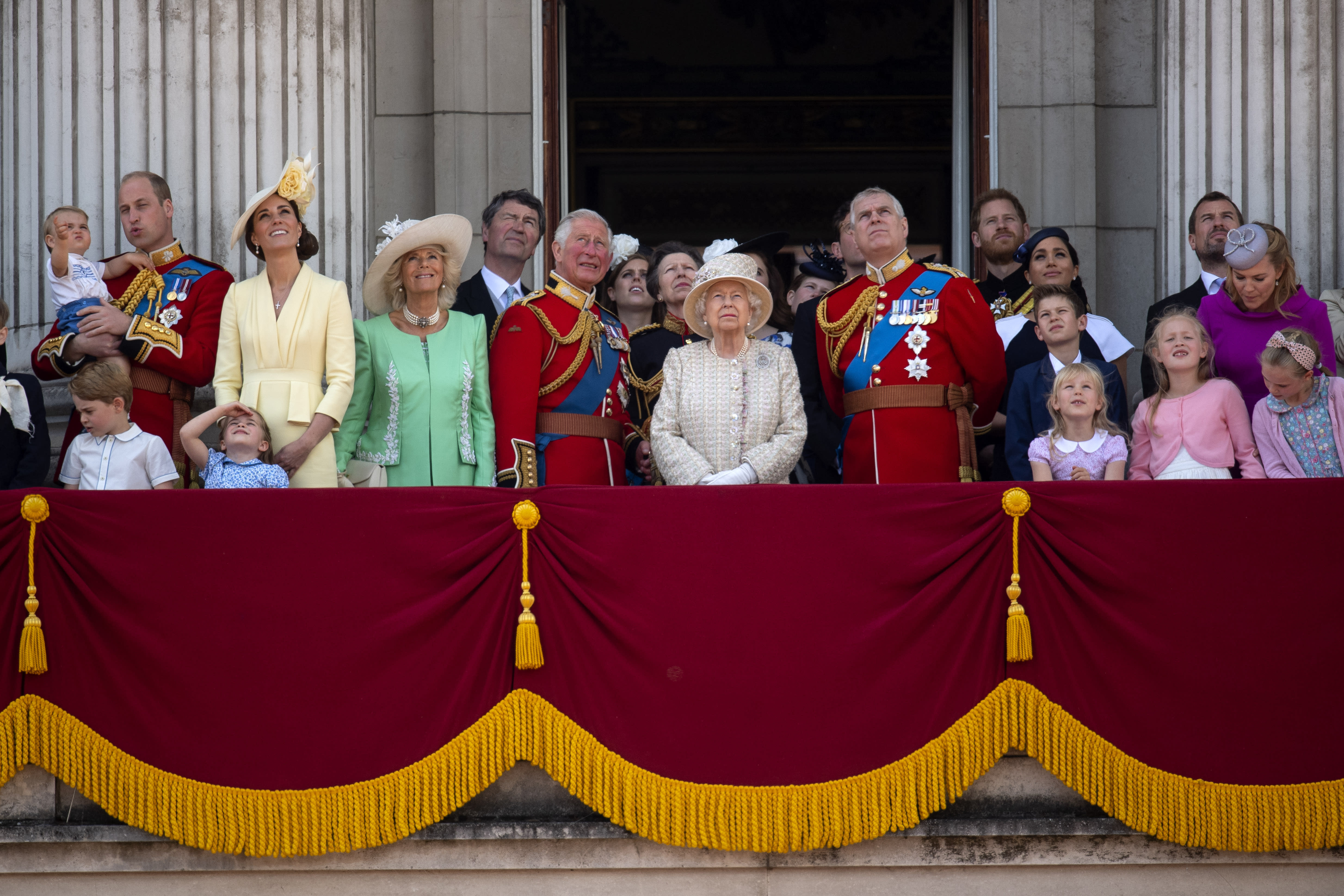 The Royal Family on the Buckingham Palace balcony for Trooping the Colour. [Photo: PA]