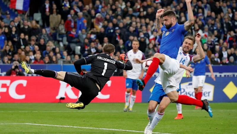 Giroud hits record as France spank Iceland