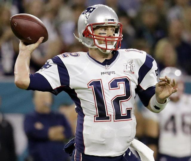 Tom Brady's Super Bowl LI jersey was stolen and recovered. (AP)