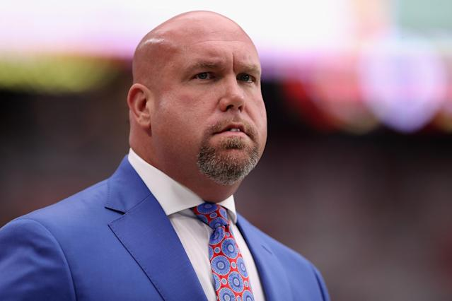 "<a class=""link rapid-noclick-resp"" href=""/nfl/teams/ari"" data-ylk=""slk:Arizona Cardinals"">Arizona Cardinals</a> general manager Steve Keim, who pleaded guilty to extreme DUI last week, has been suspended from the team for five weeks and fined $200,000. (Getty Images)"