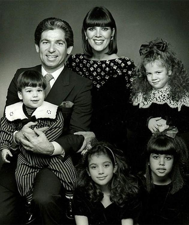 Robert Kardashian pictured with his then wife Kris and children. Photo: Getty Images.