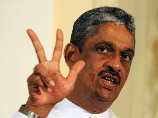 Sarath Fonseka led Sri Lankan troops to victory over the Tamil rebels in 2009