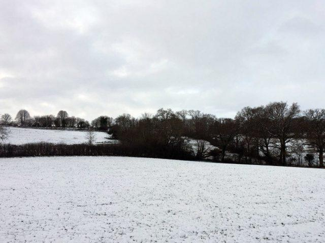 Wintry conditions near Bourton-on-the-Water in Gloucestershire  (Rebecca Wardle/PA)