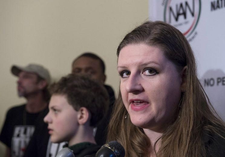 Flint, Mich. resident Melissa Mays at a news conference on Capitol Hill in February 2016. (Photo: Molly Riley/AP)