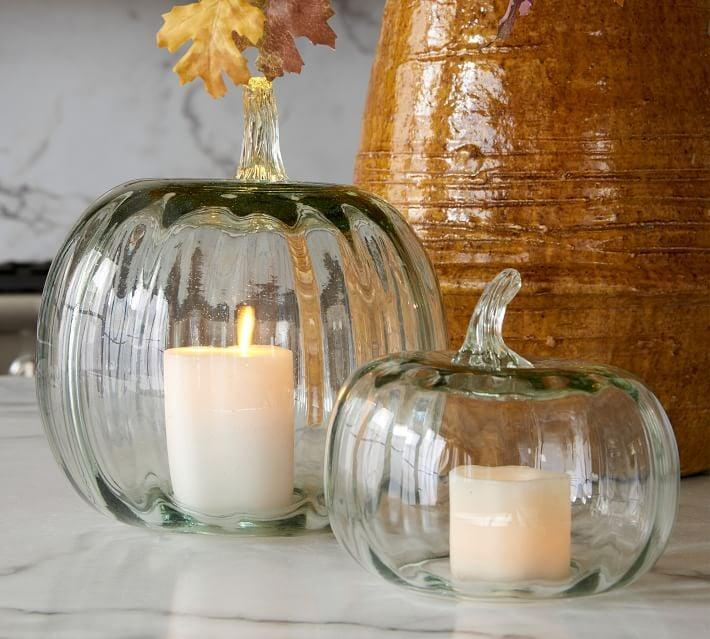 <p>Candles will look so pretty in this <span>Recycled Glass Pumpkin Cloche</span> ($20-$69).</p>