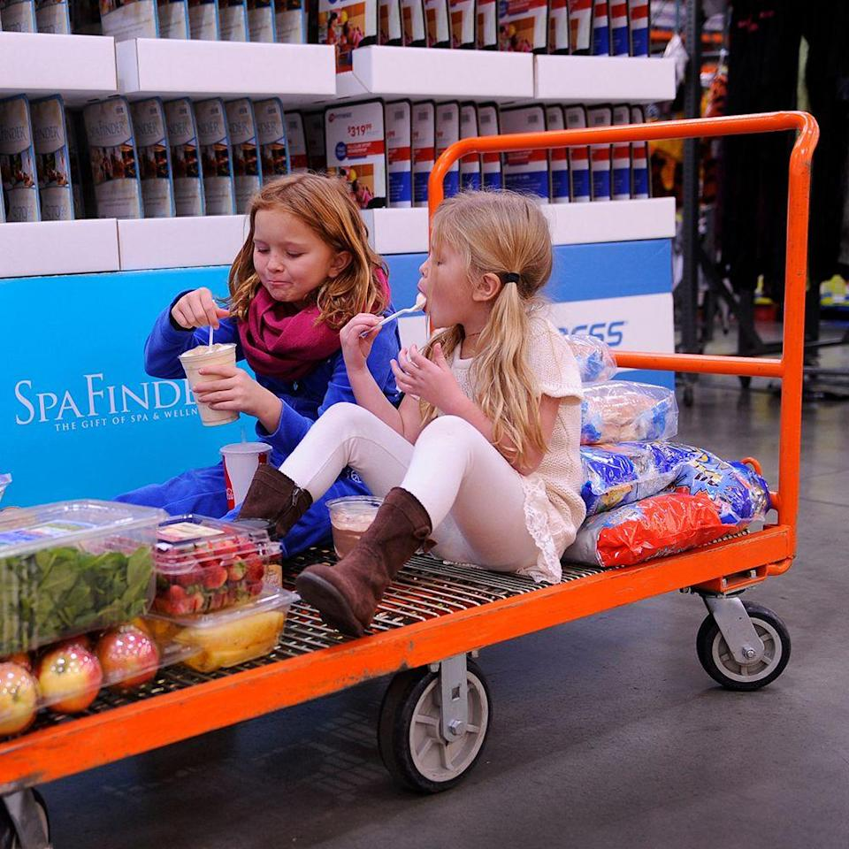 <p>As a Costco member, you can bring up to two guests shopping with you into the store. This is a great way to let someone try before they buy their own membership.</p>