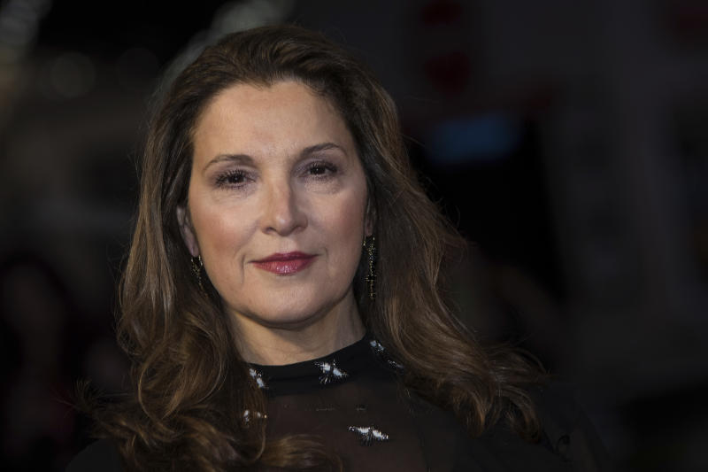 Producer Barbara Broccoli poses for photographers upon arrival at the premiere of the film 'Film Stars Don't Die in Liverpool' showing as part of the BFI London Film Festival in London, Wednesday, Oct. 11, 2017. (Photo by Vianney Le Caer/Invision/AP)