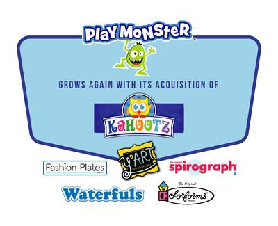 PlayMonster grows again with its acquisition of Kahootz Toys (CNW Group/PlayMonster LLC)