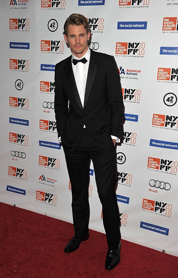 """<a href=""""http://movies.yahoo.com/movie/contributor/1810178122"""">Josh Pence</a> at the New York City premiere of <a href=""""http://movies.yahoo.com/movie/1810128131/info"""">The Social Network</a> on September 24, 2010."""