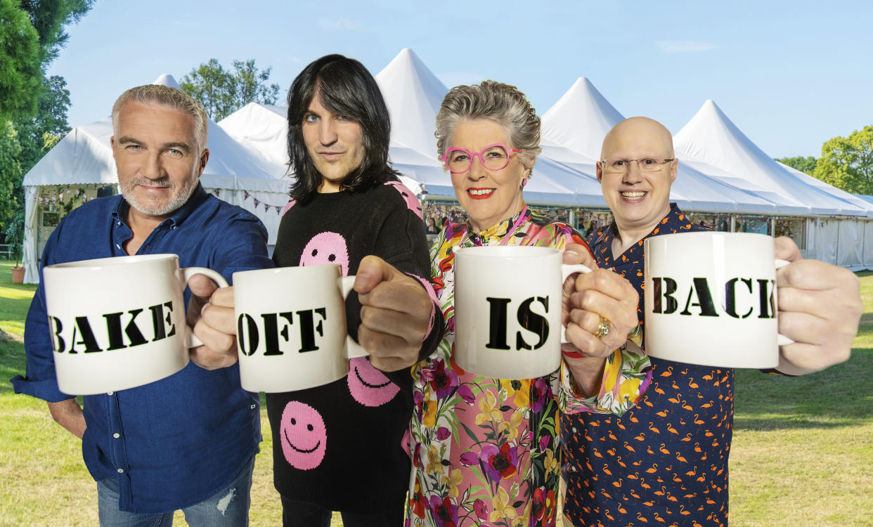 Cake slices at the ready - 'Bake Off' is back. (Channel 4)