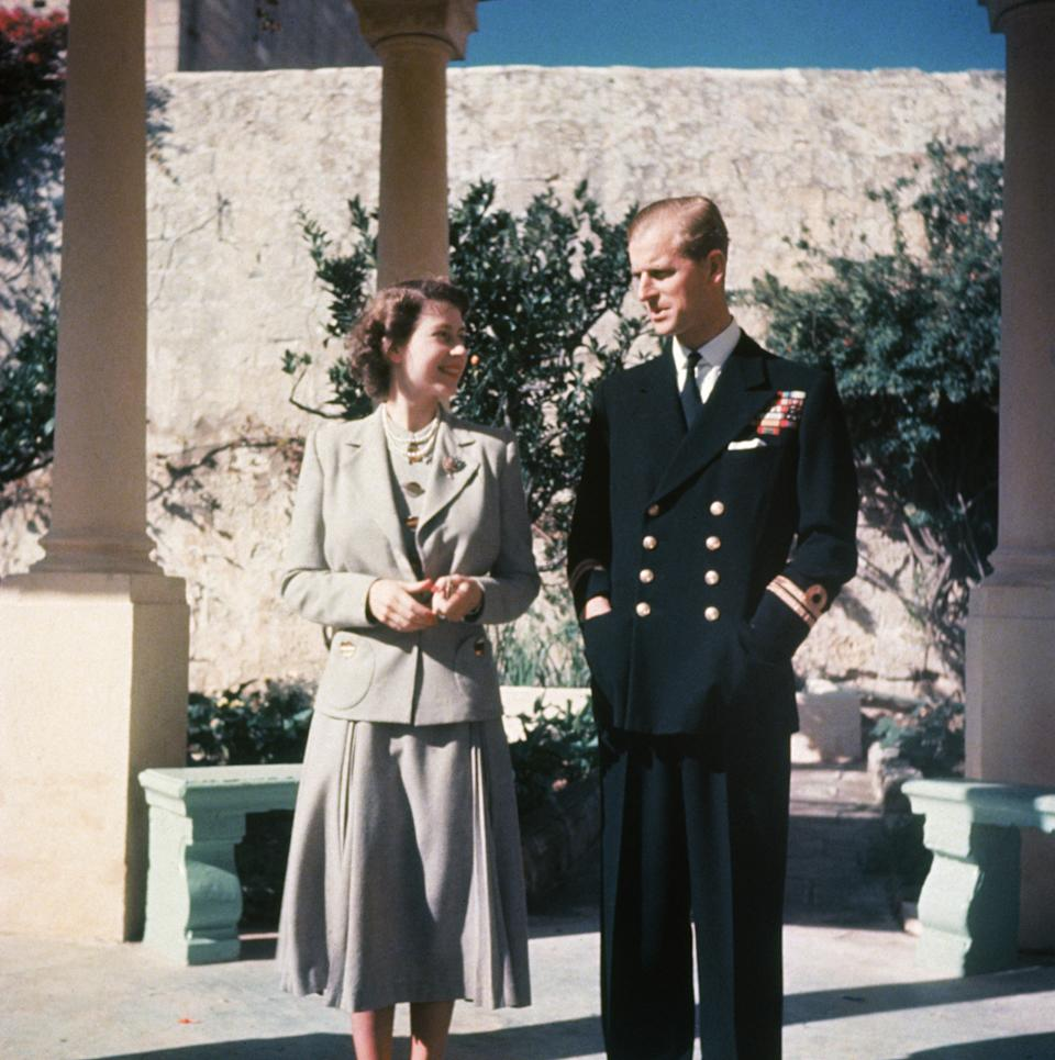 The Queen and Prince Philip on their honeymoon in Malta