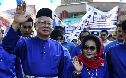 Former Malaysian Prime Minister Najib Razak and his wife Rosmah Mansor are facing a corruption probe - Credit: Mohd Rasfan/AFP