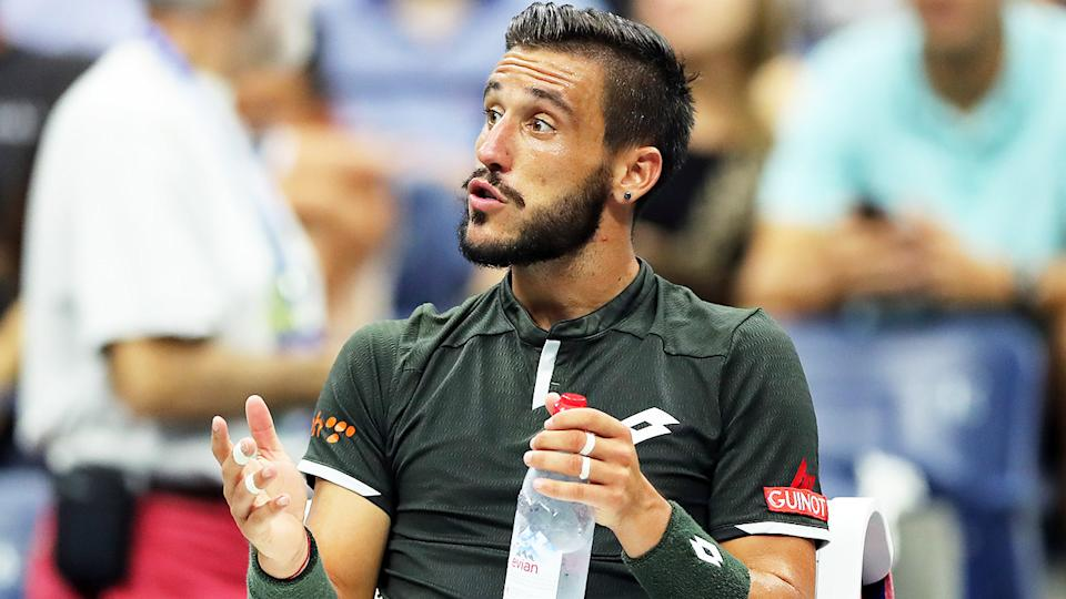 Damir Dzumhur (pictured) getting frustrated at the Australian Open.