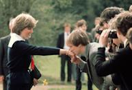<p>One of Diana's first official outings - a visit to Cheltenham - as a soon-to-be member of the royal family, following announcement of her engagement to Prince Charles.</p>