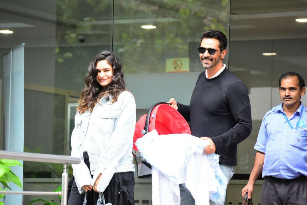 Model-turned-actor Arjun Rampal and his girlfriend Gabriella Demetriades welcomed their baby boy in July 2019. Rampal, who was previously married to model Mehr Jesia, has two daughters, Mahikaa, aged 16, and Myra, aged 13.