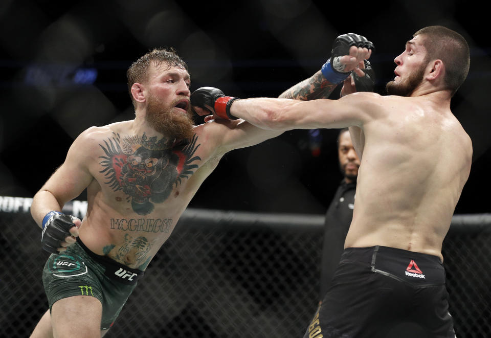 Conor McGregor lost in the fourth round at UFC 229, but plenty went wrong before that against Khabib Nurmagomedov. (AP Photo)